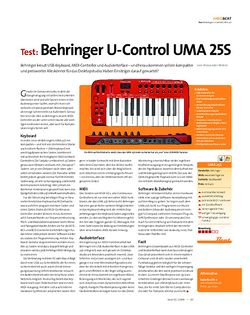 Beat Test: Behringer U-Control UMA 25S