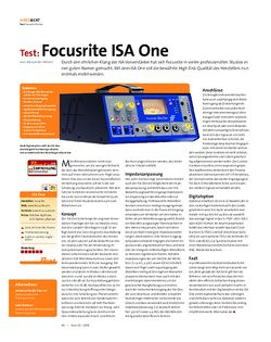 Beat Test: Focusrite ISA One
