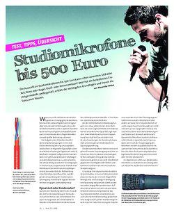 Beat Studiomikrofone bis 500 Euro