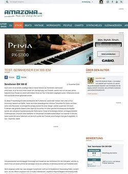 Amazona.de Test: Sennheiser EW 300 IEM