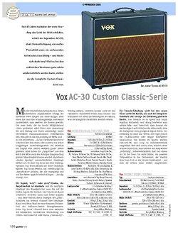 Guitar Test: Vox AC-30 Custom Classic-Serie