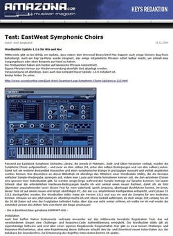 Amazona.de Test: EastWest Symphonic Choirs
