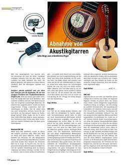 Guitar Gear: Abnahme von Akustikgitarren - Zehn Wege zum ordentlichen Pegel