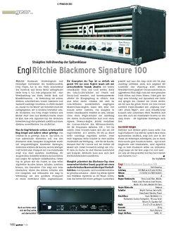 Guitar Engl Ritchie Blackmore Signature 100