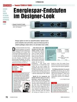 Soundcheck Test: Yamaha P 2500S & P 3500S - Energiespar-Endstufen im Designer-Look