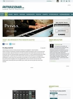 Amazona.de Test: Behringer Pro Mixer DJX750