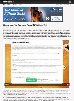 Bonedo.de Gibson Les Paul Standard Faded