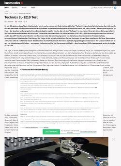 Bonedo.de Technics SL1200