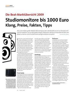 Beat Studiomonitore bis 1000 Euro Klang, Preise, Fakten, Tipps