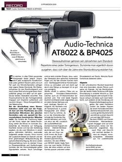 KEYS Audio-Technica AT8022 & BP4025