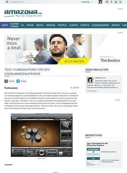 Amazona.de Test: Funkmasters für dfh EZdrummer/Superior