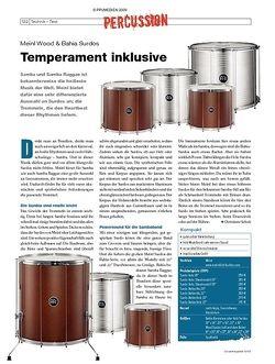 DrumHeads Instrumente & Technik: Meinl Wood & Bahia Surdos
