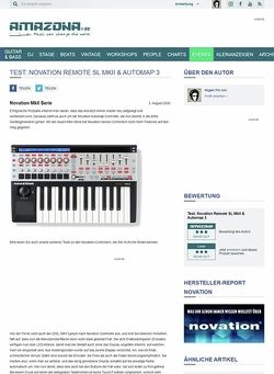 Amazona.de Test: Novation Remote SL MkII & Automap 3