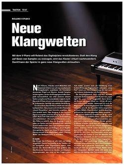 Tastenwelt Test: Roland V-Piano - Neue Klangwelten