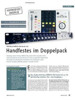 Soundcheck Test: Steinberg MR816 CSX & CC 121