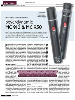 KEYS beyerdynamic MC 910 & MC 950