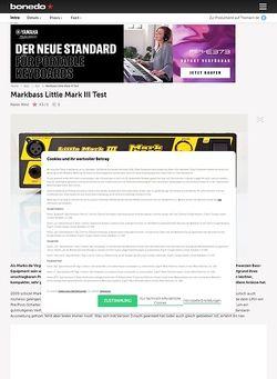 Bonedo.de Markbass Little Mark III