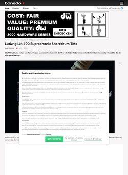 Bonedo.de Ludwig LM 400