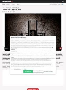 Bonedo.de Sontronics Sigma