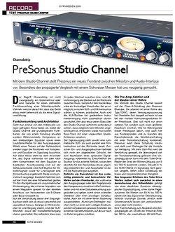 KEYS PreSonus Studio Channel