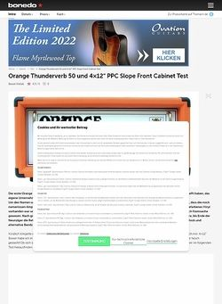 Bonedo.de Orange Thunderverb 50H/PPC Slope Front Cab
