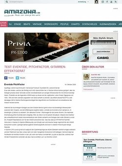 Amazona.de Test: Eventide, PitchFactor, Gitarren-Effektgerät