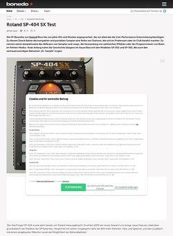 Bonedo.de Roland SP-404 SX