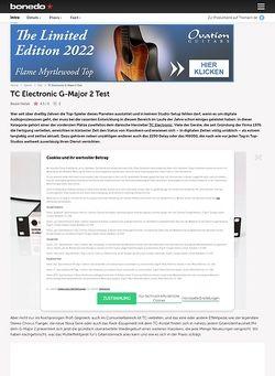 Bonedo.de TC Electronic G-Major 2