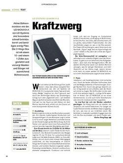 Tastenwelt Test: LD Systems LD MON101A - Kraftzwerg