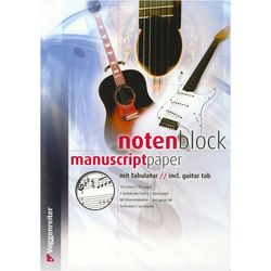 Notenblock Music Paper Tab A4 Voggenreiter
