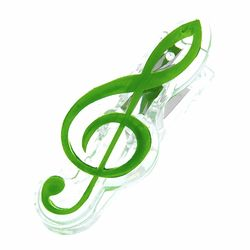 Music Clip Violin Clef Green A-Gift-Republic