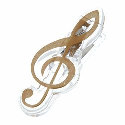 Music Clip Violin Clef Gold A-Gift-Republic
