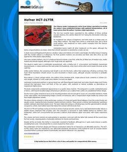 HCT-SL-SB-0 Blue Tone Archtop