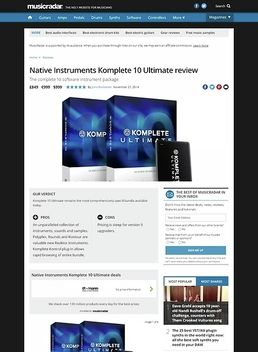 Komplete 10 Ultimate Crossgr.