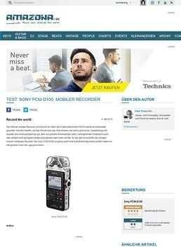 Test: Sony PCM-D100, Mobiler Recorder