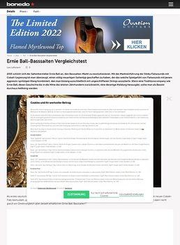 Ernie Ball Basssaiten Vergleichstest