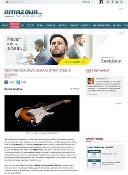 Test: Fender Dave Murray Strat 2TSB, E-Gitarre