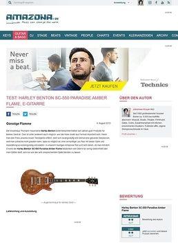 Test: Harley Benton SC-550 Paradise Amber Flame, E-Gitarre