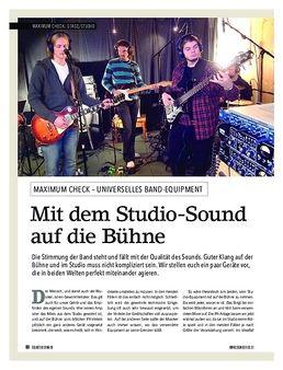 Maximum Check: Mit dem Studio-Sound auf die Bühne