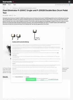 Pearl Eliminator P-2000C Single und P-2002B Double Bass Drum Pedal