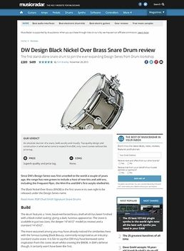 DW Design Black Nickel Over Brass Snare Drum
