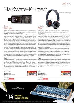 Lewitt LCT 550, M-Audio M50