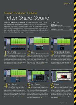 Cubase - Fetter Snare-Sound