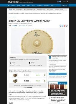 Zildjian L80 Low Volume Cymbals