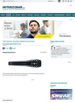 Top News: Shure KSM8 Dualdyne, Gesangsmikrofon