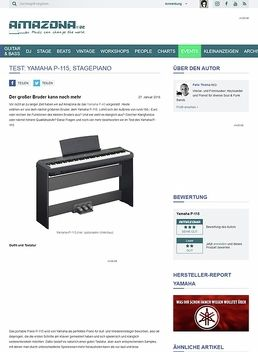 Test: Yamaha P-115, Stagepiano