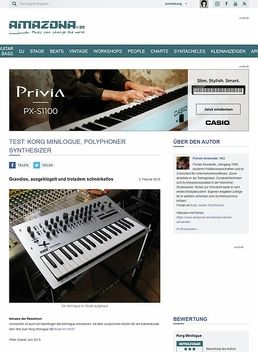 Test: Korg Minilogue, polyphoner Synthesizer
