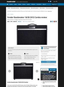 Fender Bassbreaker 18/30 2X12 Combo