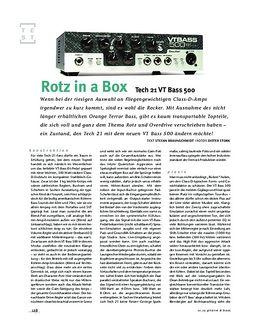 Tech 21 VT Bass 500, Bass-Top