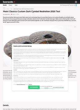 Meinl Classics Custom Dark Cymbal Neuheiten